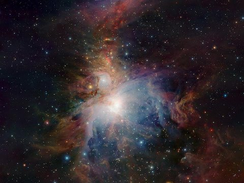VISTA's infrared view of the Orion NebulaCredit : ESO /J. Emerson /VISTA