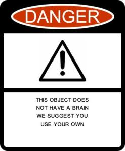 Sign Object Does Not Have a Brain