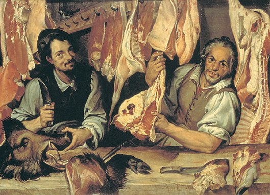 From Wikipedia Commons: Bartolomeo Passarotti – The Butcher Stall