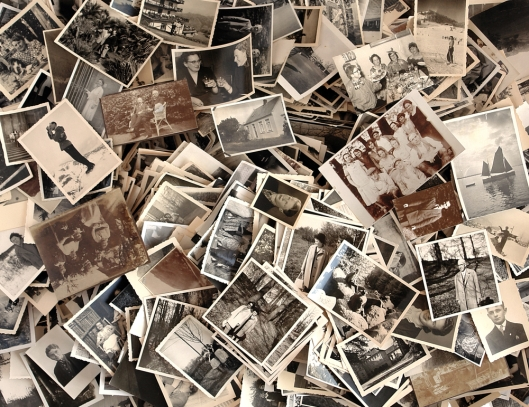 Lots of old black-and-white photos