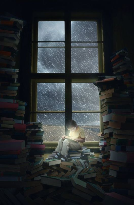 Boy Reading theflickerees.deviantart_com