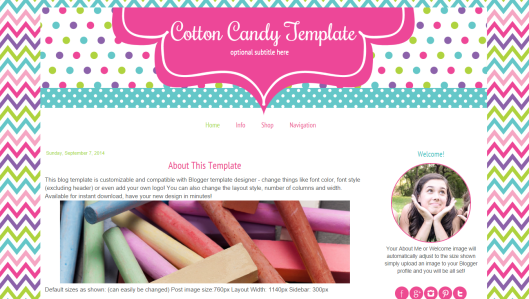 Cute Blog Template