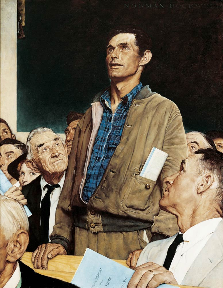 Norman Rockwell Town Meeting